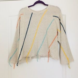 Zara crop sweater with colored thread